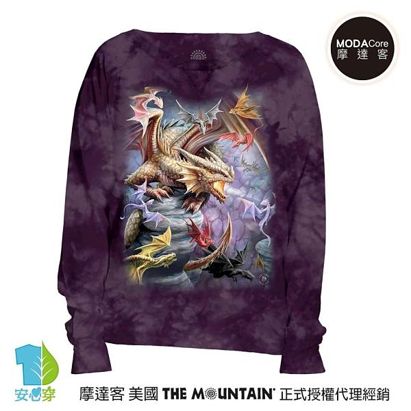 摩達客 預購-美國進口The Mountain 龍群 女版船型領休閒長袖T恤