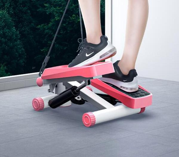 踏步機 女家用靜音減肥神器原地登山腳踏機運動健身器材小型瘦腿機TW【快速出貨八折下殺】