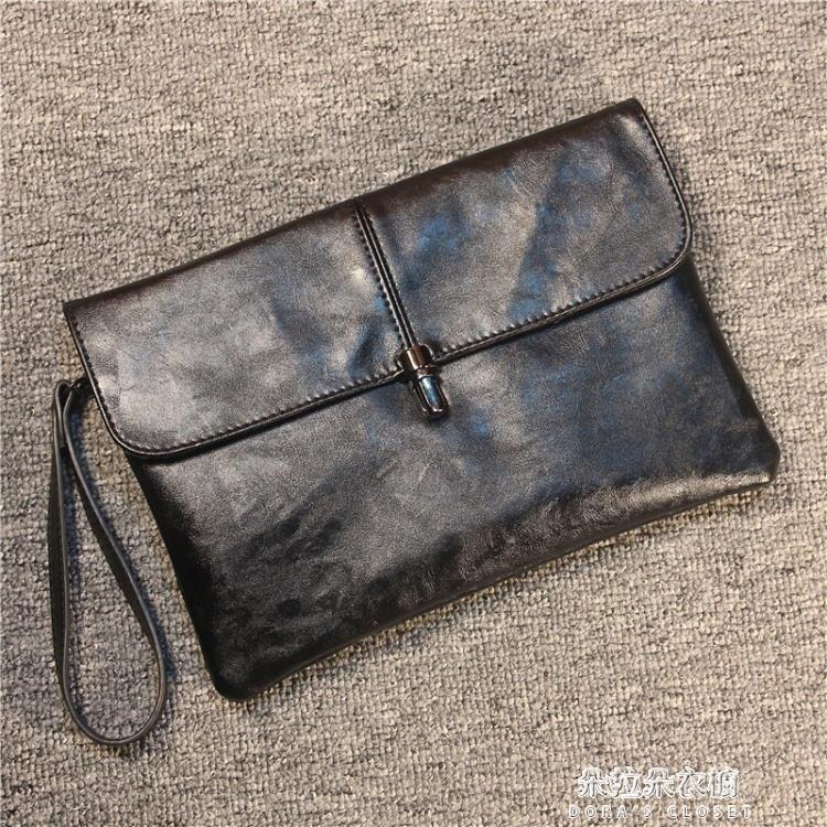 手拿包 韓版男包街頭潮流男士手拿包時尚手抓包商務休閒包手拿包青年手拎包