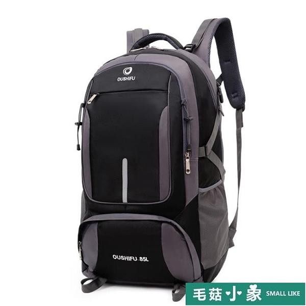 背包男大容量超大背包旅行包女戶外登山包打工行李旅游書包雙肩包【毛菇小象】