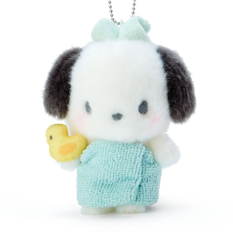 帕洽狗 泡湯 絨毛珠鍊吊飾娃 G11 吊飾 掛飾 鑰匙圈 玩偶 布偶 收藏 擺設 真愛日本