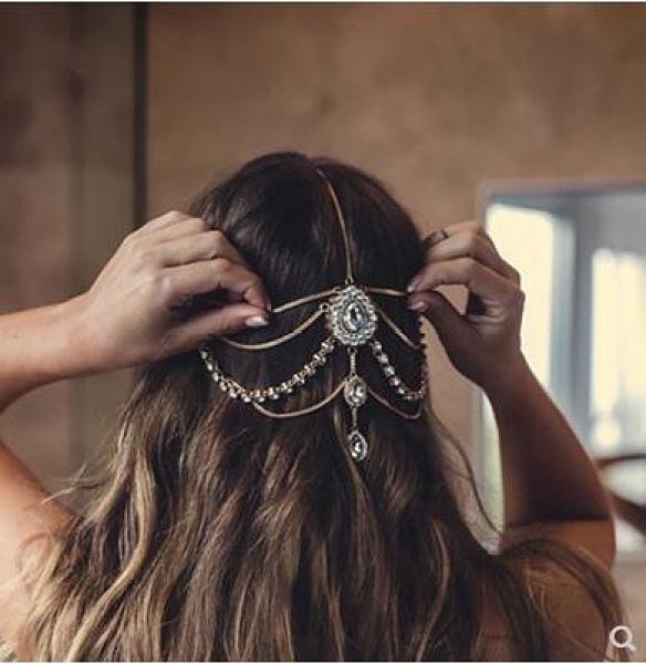 新款印度風新娘頭飾波西米亞