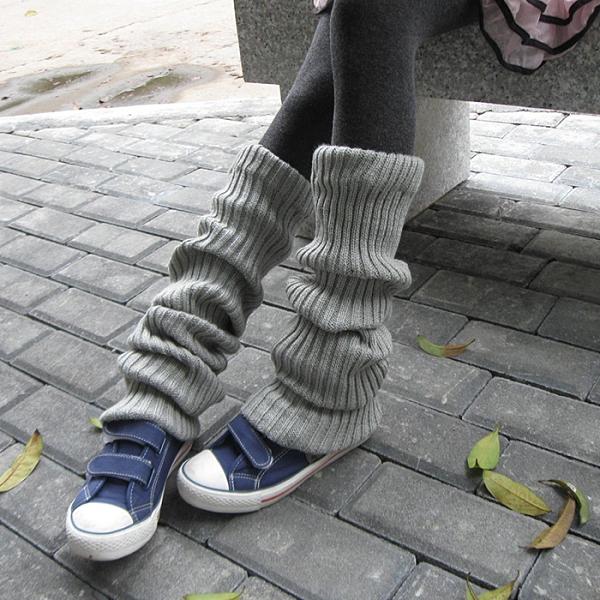 秋冬加厚襪套日系學院風長筒襪堆堆過膝寬松毛線長襪女保暖護腿套