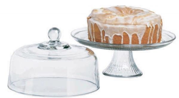 美國 Anchor 二用高腳玻璃蛋糕盤 含蓋 A-86475
