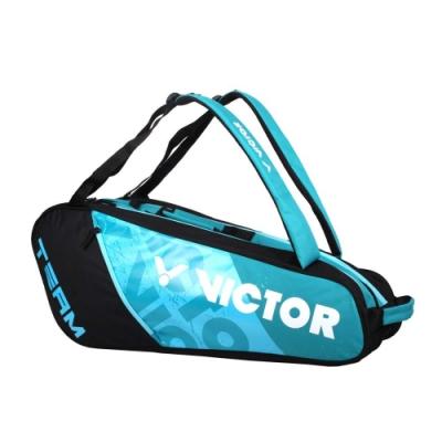 VICTOR 6支裝拍包-後背包 雙肩包 肩背包 裝備袋 球拍袋 羽球 勝利 BR6215FC 黑藍綠