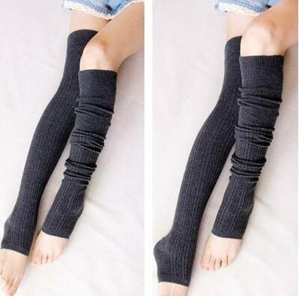 日系護腿襪套女秋冬季羊毛過膝襪高筒襪保暖堆堆襪踩腳學生長襪子