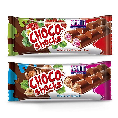 POLUS 味覺繽紛巧克力威化條(40g)【小三美日】D210229