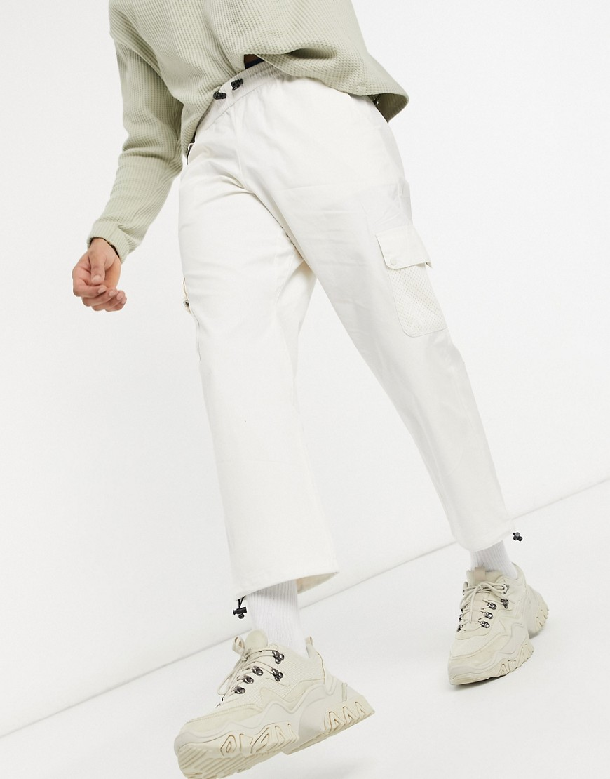 Hi-Tec utility trousers in cream-White