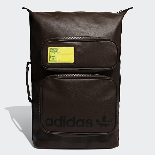 Adidas STAN SMITH 後背包 手提 休閒 拉鍊前袋 背面加厚 仿皮革 咖【運動世界】GN1852