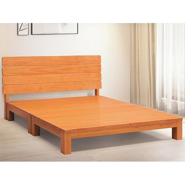 床架 床台 AT-567-1A 夏洛特5尺原木色床台 (不含床墊) 【大眾家居舘】