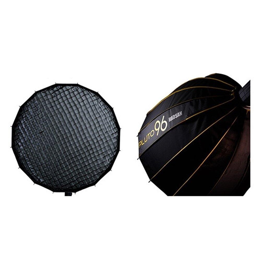贈卡口轉接環~HADSAN PLUTO 96 深型快收罩 + PLUTO 96 蜂巢 柔光罩 柔光箱(公司貨)