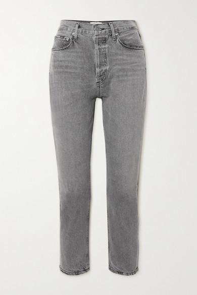 AGOLDE - Riley 高腰直筒牛仔裤 - 灰色 - 26