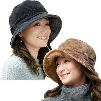 日本COGIT燈芯絨刷毛保暖漁夫帽