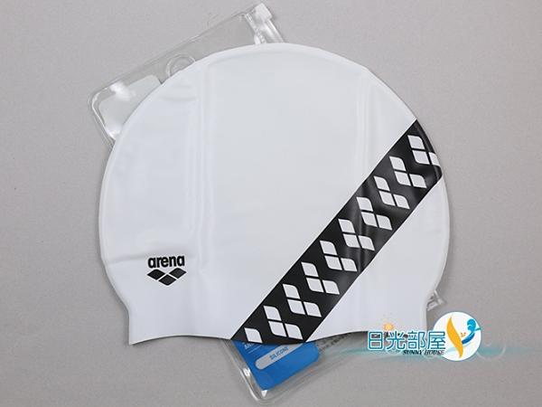 *日光部屋* arena (公司貨)/ASS-0600-WHBK 舒適矽膠泳帽