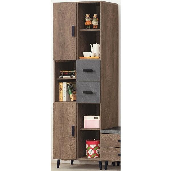 展示櫃 客廳櫃 高低櫃 PK-382-1 橡木美耐皿仿石立櫃【大眾家居舘】