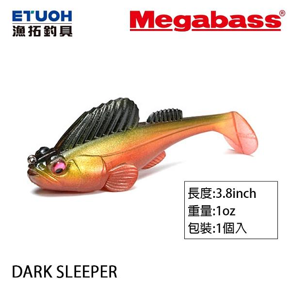 漁拓釣具 MEGABASS DARK SLEEPER 3.8吋 28g [彈塗魚]
