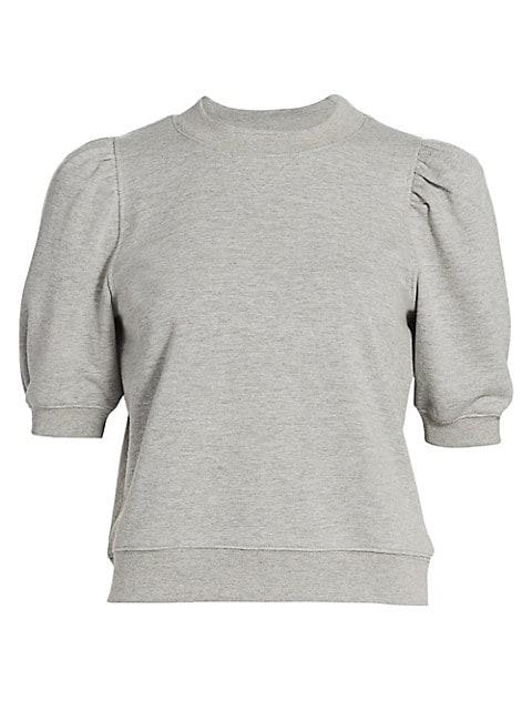 Puff-Sleeve Sweatshirt