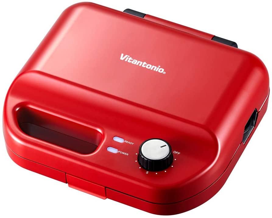 日本代購 空運 Vitantonio VWH-50 多功能 鬆餅機 附兩烤盤 格子鬆餅 帕尼尼 三明治 紅色
