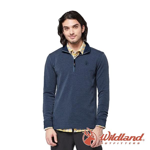 【wildland 荒野】男 POLARTEC功能上衣『迎賓藍』P2608 戶外 休閒 運動 登山 吸濕 排汗 快乾 舒適