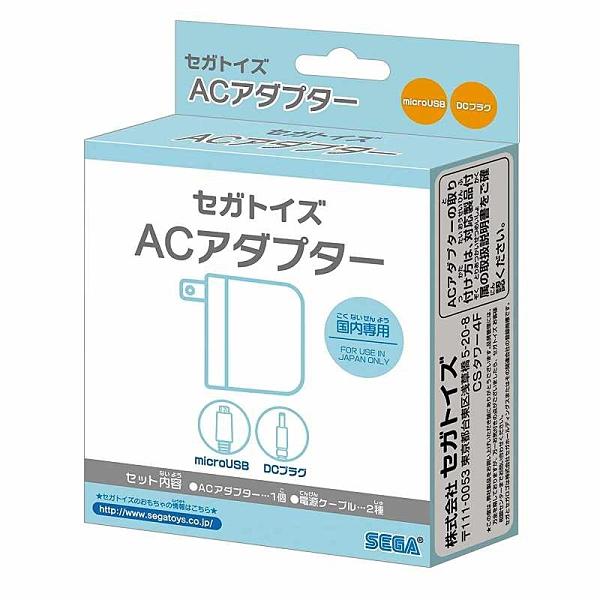 SEGA TOYS AC適配器 附micro USB電線 2.5m DC插頭電線 1.5m [2東京直購]