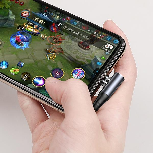 TOTU 安卓MicroUSB充電線傳輸線編織線快充線 磁吸 彎頭 手遊 LED 指示燈 極速系列 100cm