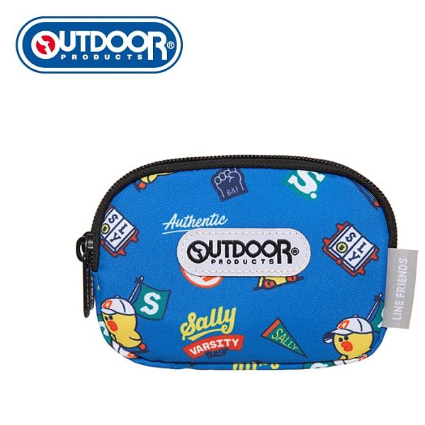 【橘子包包館】OUTDOOR LINE聯名款-校隊莎莉雙拉鍊零錢包-藍色 ODBF20C03BL 零錢包