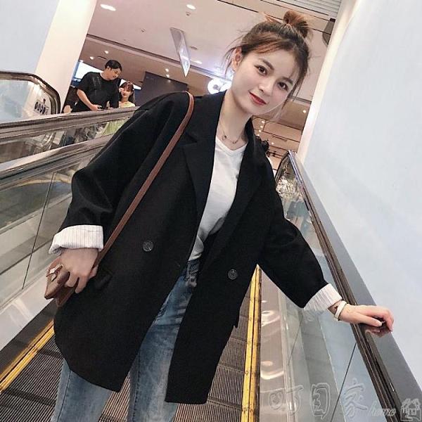 小西裝新款韓版春秋小個子黑色西裝外套女網紅小西服套裝英倫風上衣 新年優惠