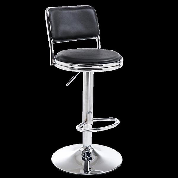 吧臺椅 美容圓凳實驗凳美發大工凳靠背椅子高腳凳旋轉升降椅 DF 維多原創