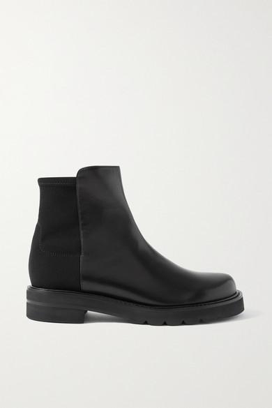 Stuart Weitzman - 5050 Lift 皮革氯丁橡胶踝靴 - 黑色 - IT39.5
