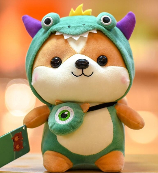 公仔玩偶 可愛小松鼠公仔恐龍毛絨玩具麋鹿兒童玩偶元旦男生日禮物柴犬娃娃