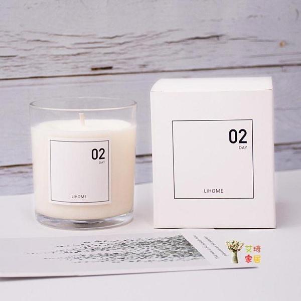 蠟燭杯 浪漫玫瑰無煙香薰蠟燭精油家用室內持久香氛熏香蠟燭玻璃杯
