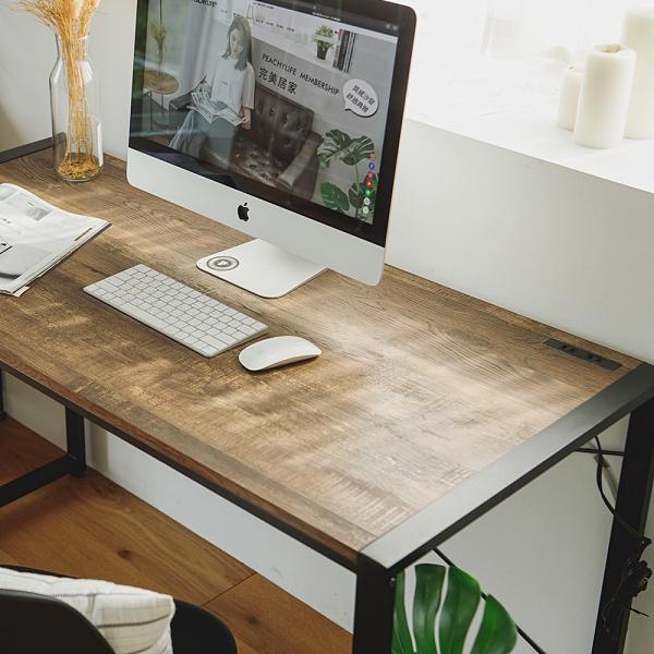 工業風 書桌 辦公桌 桌子【R0131】安德魯128CM工業風電腦書桌(黑腳) MIT台灣製 完美主義