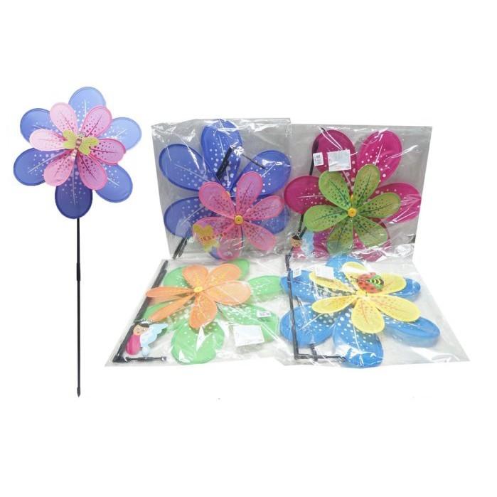 40cm 雙層 風車 童玩 兒童 單支裝 小花 風車 夜市玩具 幼教 贈品yf12225