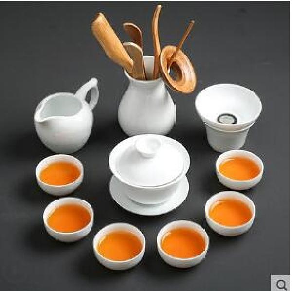 茶具套装 瓷功夫茶具套裝中式家用干泡茶盤辦公簡約陶瓷泡茶壺茶杯蓋碗TW【快速出貨八折搶購】