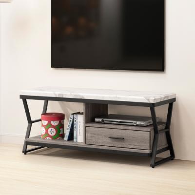 Homelike 柯特仿石紋4尺電視櫃-120x40x51cm