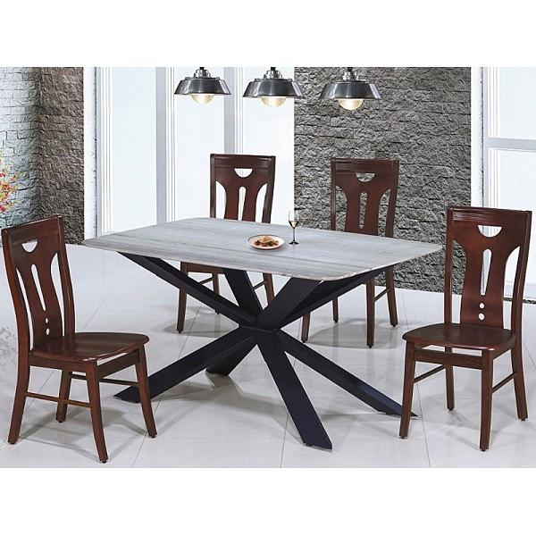 餐桌 AT-825-5 雲山水5尺石面餐桌 (不含椅子)【大眾家居舘】