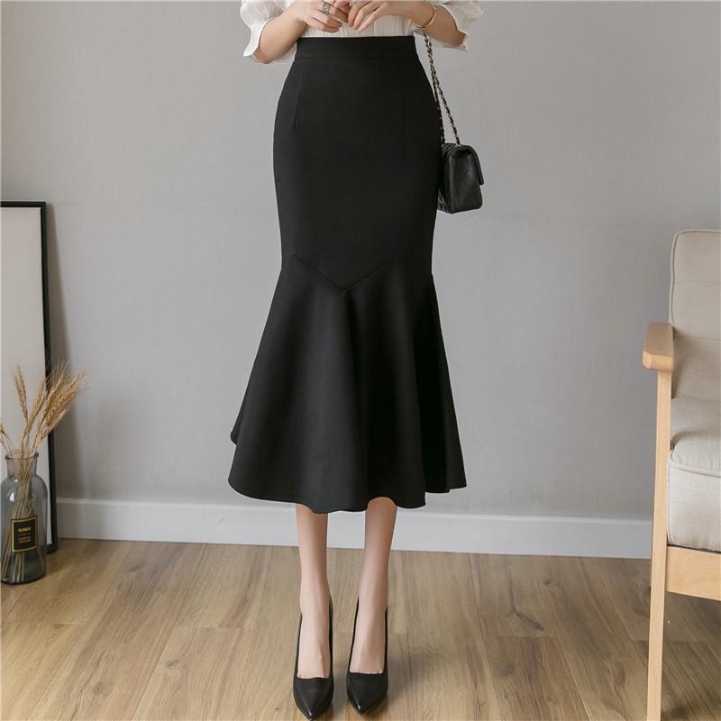 優雅性感顯身材魚尾半身裙宴會長裙過膝包臀半身裙職業半身裙