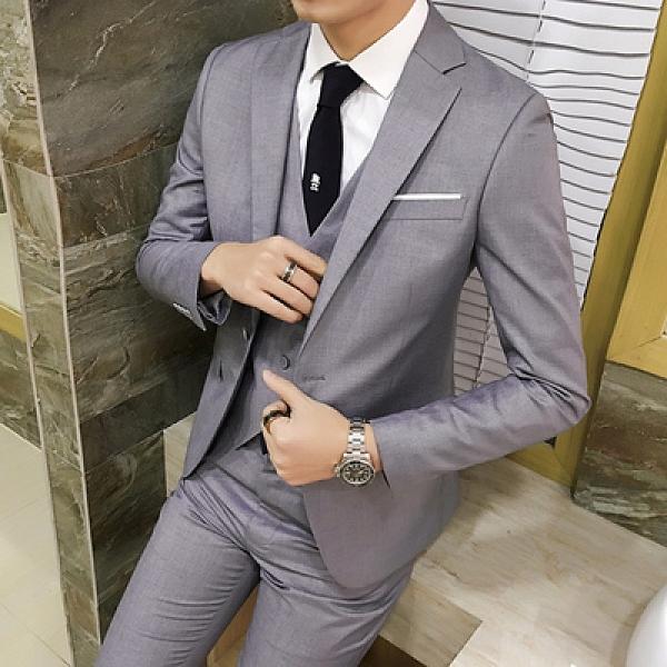 西装外套 男士西服套裝青年韓版單西外套男休閒正裝職業修身小西裝潮【快速出貨八折優惠】