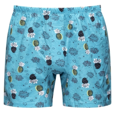 DADADO-好事旺旺來 4L印花四角男內褲(綠) 天然絲光棉-吸濕排汗