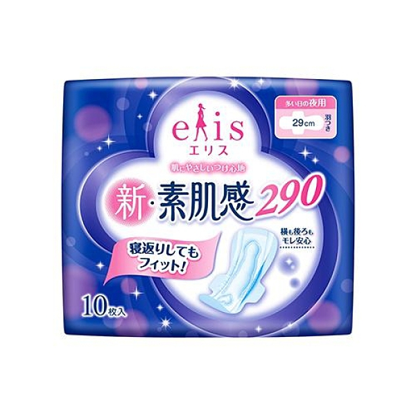 日本大王elis愛麗思新素肌感夜用衛生棉29cm X10片(夜用一般及日用量多型)【愛買】