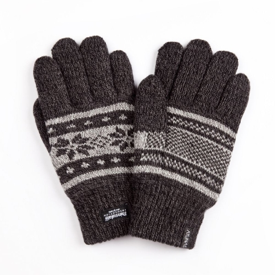 【ATUNAS 歐都納】聖誕版 3M保暖手套 A-A1236 深灰色系