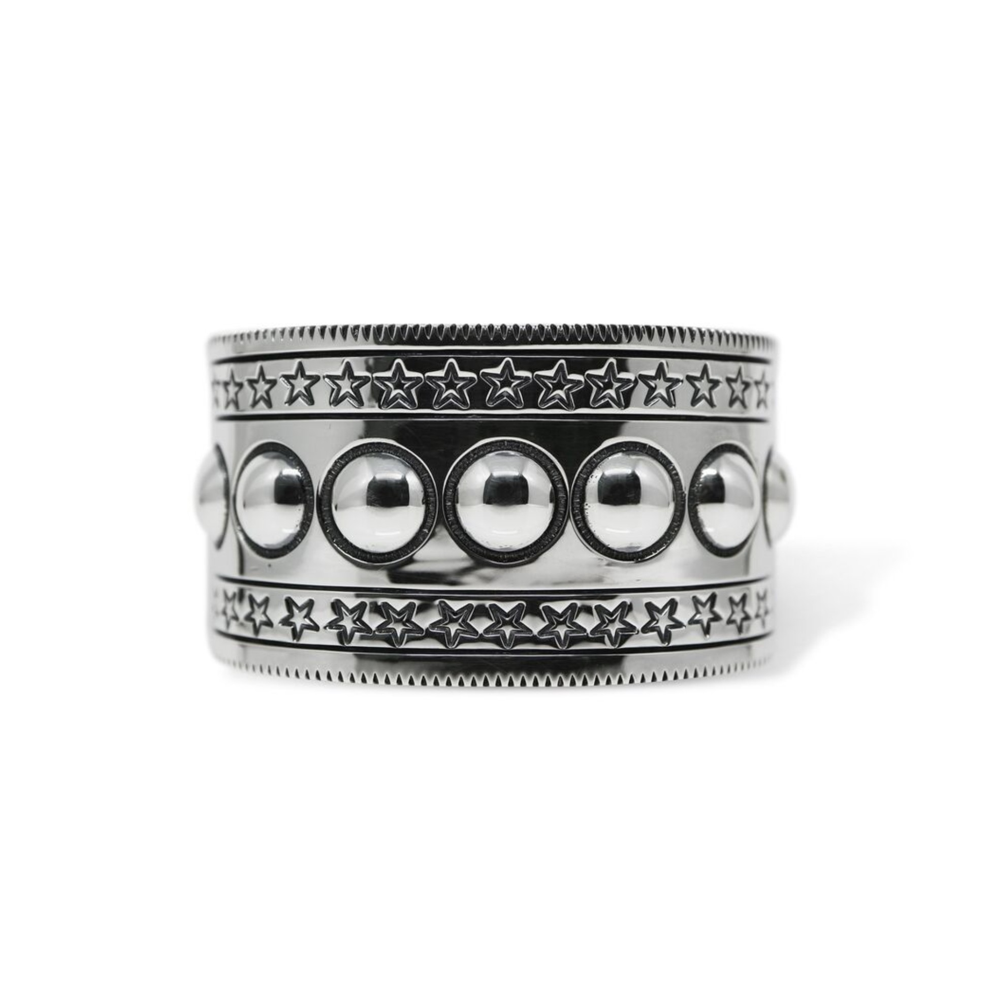1.5 INCH 9 MOONS W / STARS COIN EDGE CUFF [USD $2450]