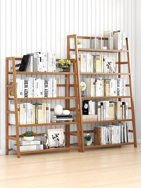 書櫃 落地簡約實木多層置物架簡易家用書柜客廳學生兒童桌面收納架TW【快速出貨八折促銷】