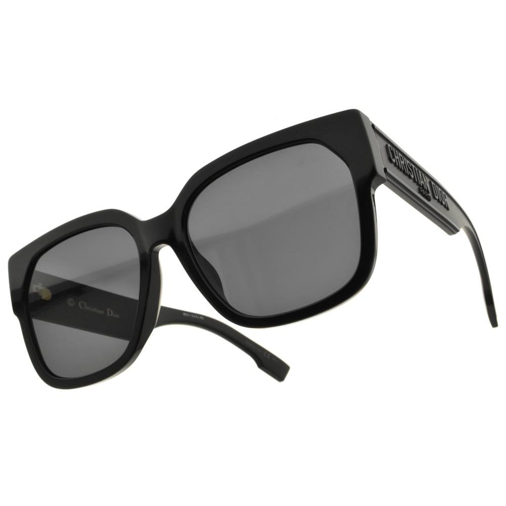 DIOR 太陽眼鏡 ID1F 8072K 時尚粗邊文字款 方框 - 金橘眼鏡