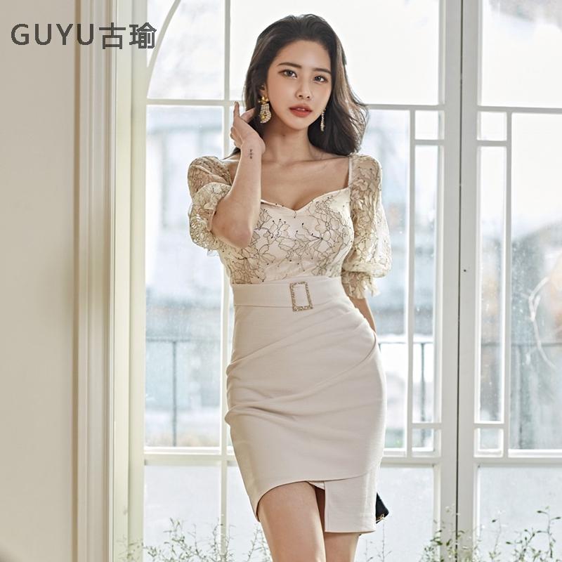 性感輕熟女洋裝宴會短洋不規則包臀夏季洋裝