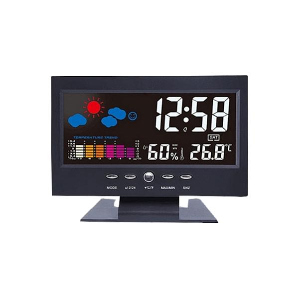 居家萬年曆溫濕度鬧鐘 USB供電 溫度濕度鐘 電子鐘 電子時鐘 數字鐘 日期顯示時鐘