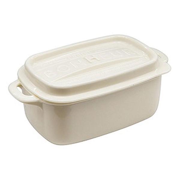 日本製鑄鐵鍋造型方形便當盒LL 440ml【康是美】