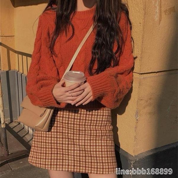 毛衣套装 秋季新款小個子顯高氣質套裝毛衣半身裙子時尚兩件套女裝洋氣 瑪麗蘇