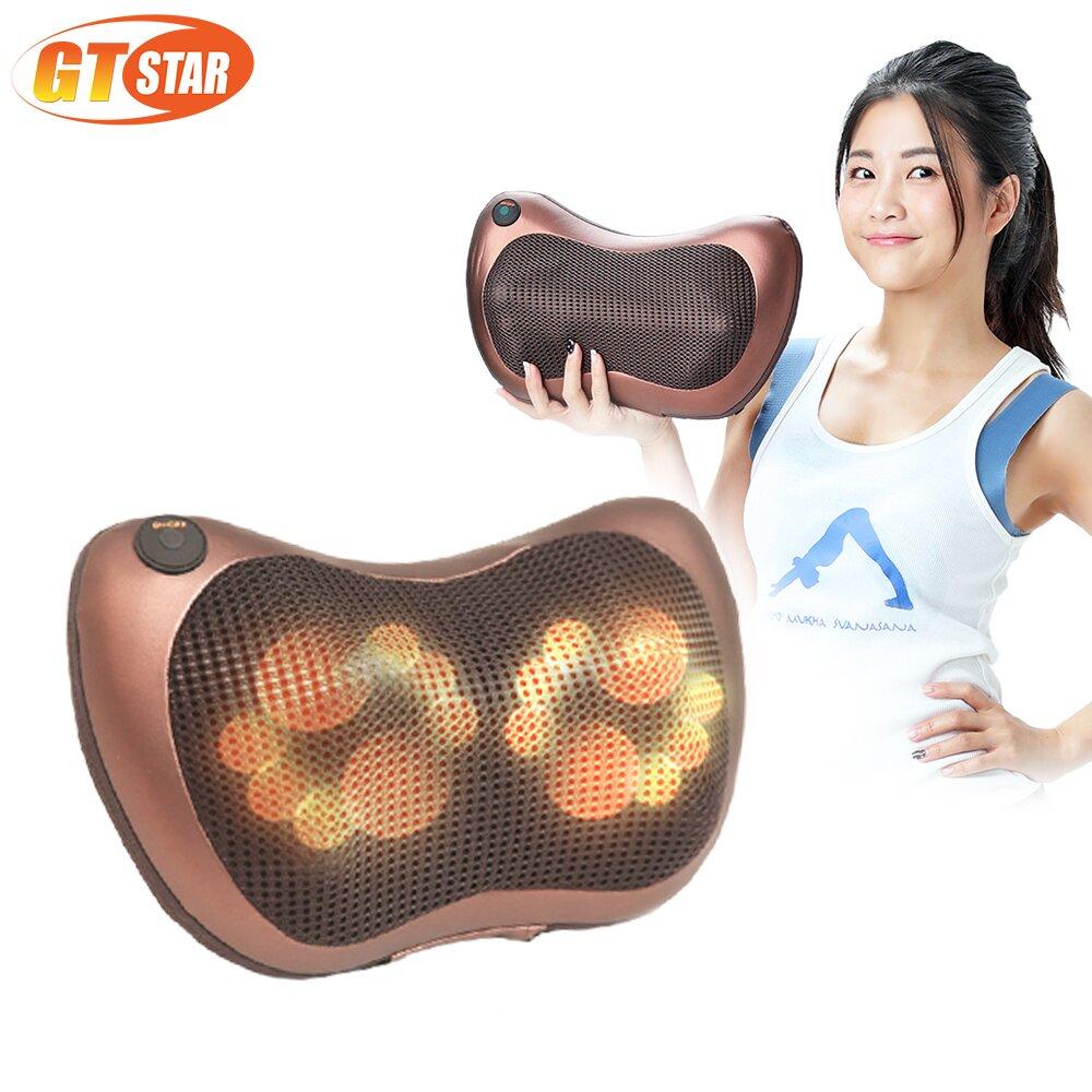 GTSTAR 挑戰最高規溫熱按摩枕-咖啡金