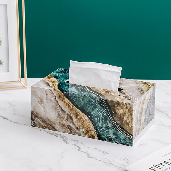 北歐ins輕奢風高檔家用歐式奢華創意客廳紙巾盒 現代簡約風抽紙盒